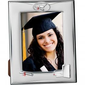 Portafotos graduación plata