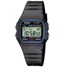 Reloj unisex Casio F-91W-1YER