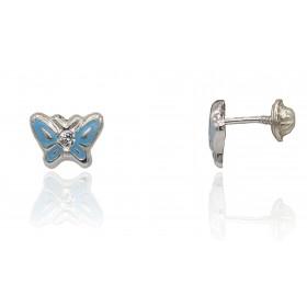 Pendientes mariposa plata...