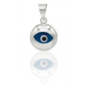 Colgante ojo turco plata de...