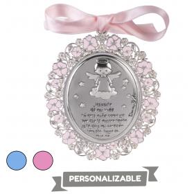 Medalla cuna ángel plata