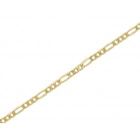 Cadena 3x1 2.5 mm. oro 18...