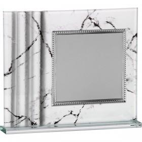 Placa homenaje cristal murano