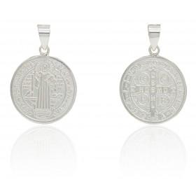 Medalla San Benito plata de...