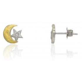 Pendientes luna y estrella...