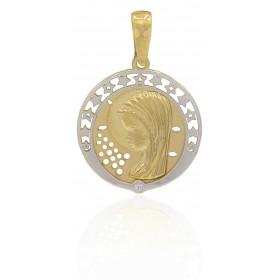Medalla virgen niña oro 18...