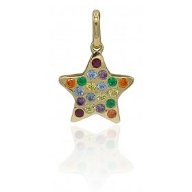 Colgante estrella piedras...
