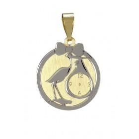 Medalla bebé reloj cigüeña...