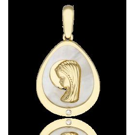 Medalla Virgen niña nácar...